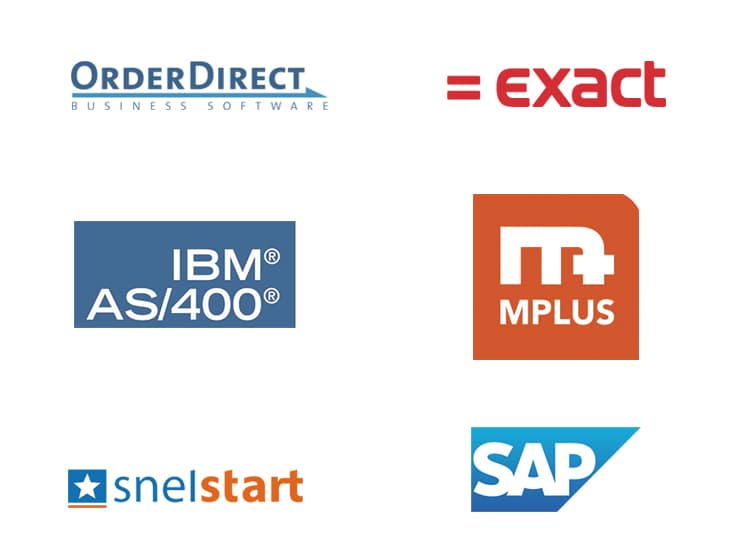 Linking your B2B webshop to Exact, Mplus, SAP SnelStart, AS400